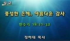 (설교) 풍성한 은혜 아름다운 감사 - 정하태목사(모자이크교회)