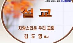 (설교) 자랑스러운 우리 교회 - 김도명목사(브니엘교회)